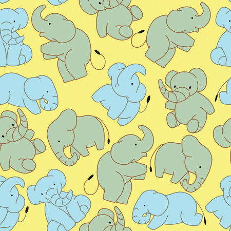 cute elephant: Elephant pattern background.