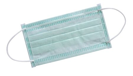 Surgical mask  rubber ear straps for cover mouth and nose to protect virus or bacteria  on white background,   included Reklamní fotografie