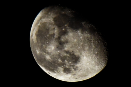 moon crater: Moon Stock Photo