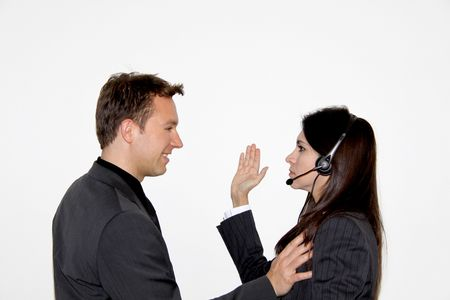 Slap in the face - sexual harassment Stock Photo - 4489738