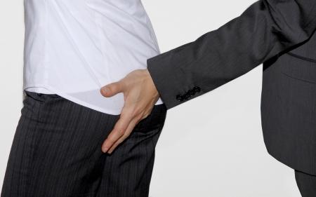 Touching the secretarys butt