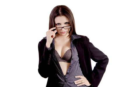 Lovely business woman with glasses
