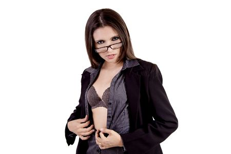 Sexy business woman with glasses Stock Photo - 4684944