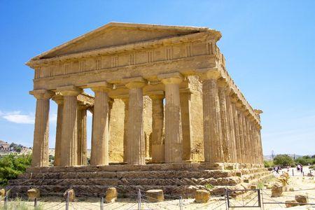 Impressive greek ancient temple