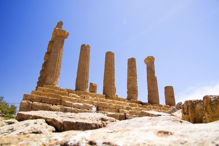 Valley of the Temples greek ancient temple in Sicily