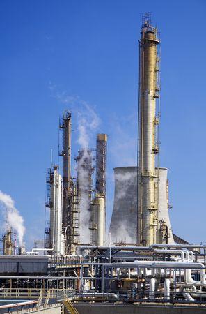 Oil refinery in Milazzo, Scicily in Italy