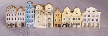 Miniature model houses in classic style photo