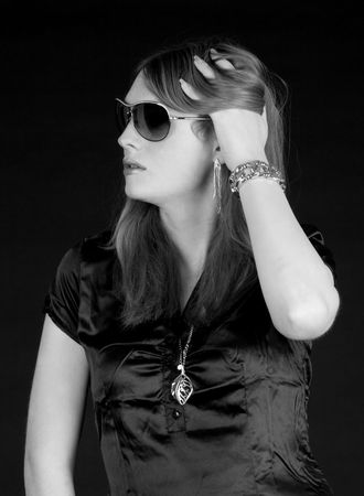Blond Scandinavian fashion model with sun glasses Stock Photo - 6036083