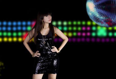 beat women: Sexy disco chick Stock Photo