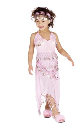Afro american girl in a belly dancer outfit