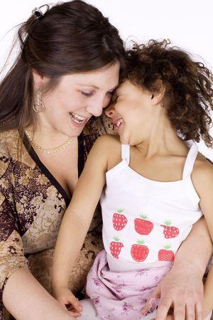 mulato: C�ucaso madre con su hija de mulato