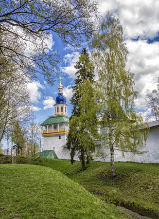 Picturesque views of the Holy Gates of the PskovPechersky Monastery Фото со стока
