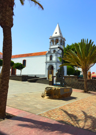 the beautiful church in the center of Puerto del Rosario, which is the capital of Fuerteventura