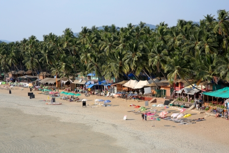 elevated view: Elevated view idyllic Goa beach Stock Photo