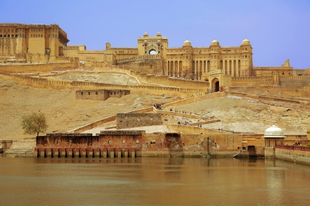 amber fort: View of Amber Fort in Jaipur India