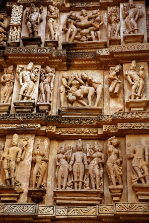 Group Sex Figures in Kama Sutra Temples in India photo