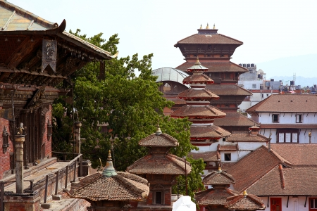 kathmandu: Kathmandu cityscape, Durbar Square, Nepal Stock Photo