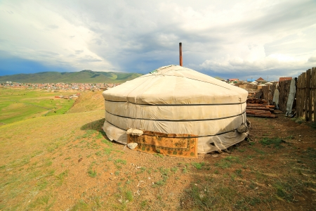 ger: Poor households in outskirts of Ulaanbaatar, Mongolia