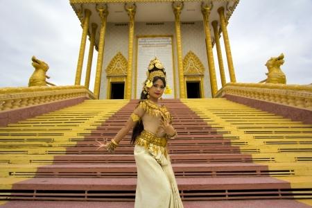 Apsara Dancer beautiful supernatural female in asian mythology