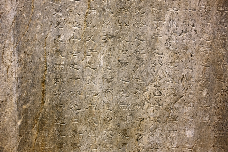 Orkhon inscriptions inside kultegin's memorial complex, mongolia. Those scripts are the oldest form of a Turkic language to be preserved. It is written by chinese alphabet during Bilge Khagan period of Gokturks Empire. It is most important epigraph for tu