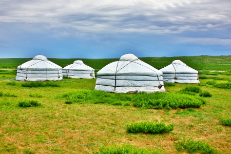Mongolian Yurt, Ger Camp Фото со стока