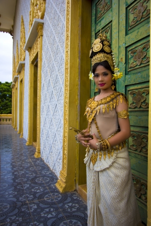 siem reap: Apsara Dancer beautiful supernatural female in asian mythology