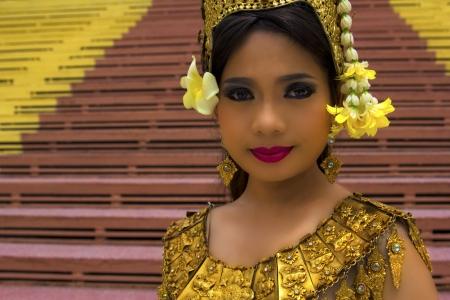khmer: Apsara Dancer beautiful supernatural female in asian mythology