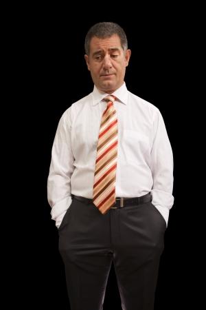 Businessman emotion thinking pensive Stockfoto