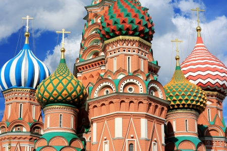 vasily: Saint Basils Cathedral, Moscow, Russia Stock Photo
