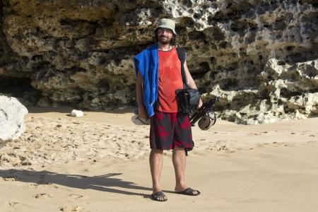 Photographer at beach