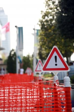 roadworks: Traffic repair sign, roadworks - Transportation - Caution - Danger