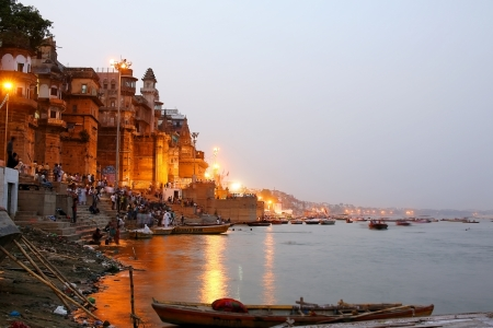 ganges: VARANASI, INDIA - MAY 2013: Everyday scene by Ganges River