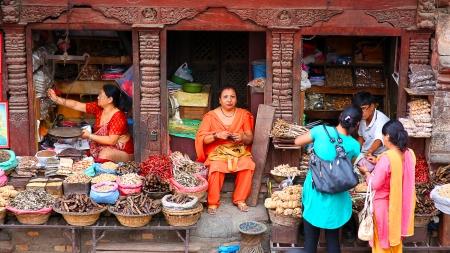 kathmandu: KATHMANDU, NEPAL - JUNE 2013: Everyday scene at Durbar Square
