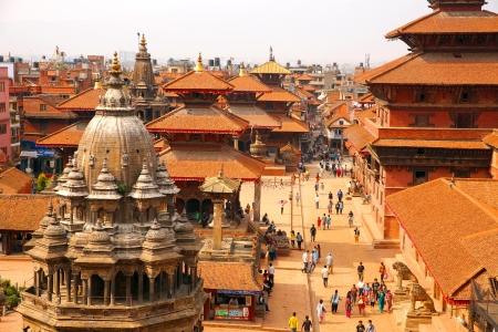 kathmandu: KATHMANDU, NEPAL - JUNE 2013: Patan Durbar Square