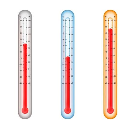 Thermometer mit mittlerer, kalten und warmen Temperaturen