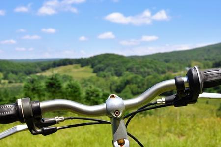 Langlauf Mountainbiken Lizenzfreie Bilder