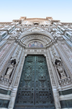 Florence cathedral entrance and facade photo