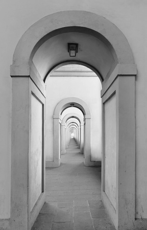 endless: Endless arched doorways repeating to infinity Stock Photo