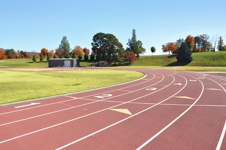 Race and running course for track and field Stock Photo