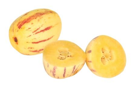 pepino: Pepino melon with cross section Stock Photo
