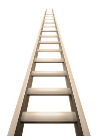 3D ladder render Stock Photo