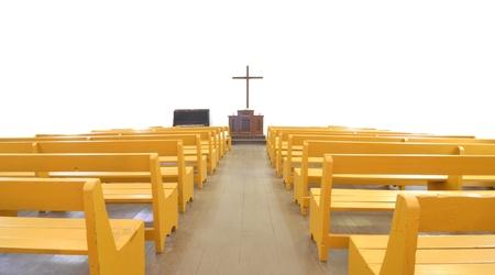 Sanctuary Innere der alten Kirche aus der Kolonialzeit