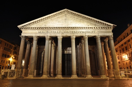 Rome Pantheon at night photo