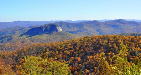 asheville: autumn colors at Looking Glass Rock in the Smoky Mountains