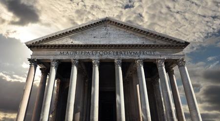 templo romano: Panteón, templo romano a los dioses de la antigua Roma