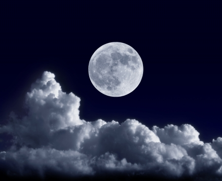 Full moon at its perigee during the supermoon of May 5, 2012 photo
