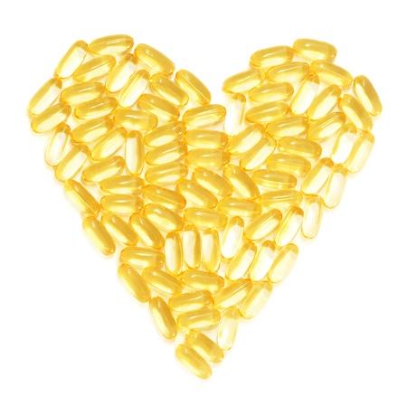 Dorschleber Fischöl in einem gesunden Herz-Form