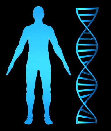 double helix: 3D concept for genetic health research and the human genome Stock Photo