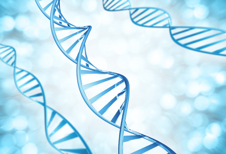 heredity: Genetic strands of DNA molecules magnified