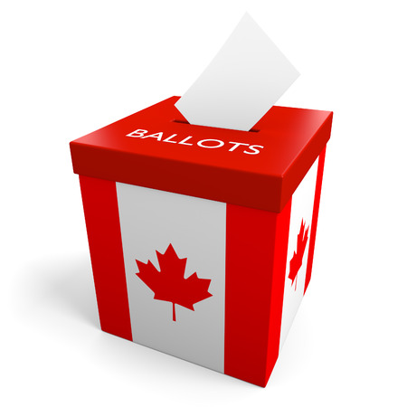 Canada election ballot box for collecting votes